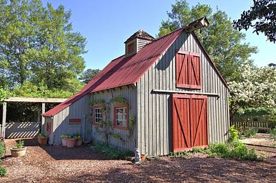 Photograph - A Garden Barn by Gordon Elwell