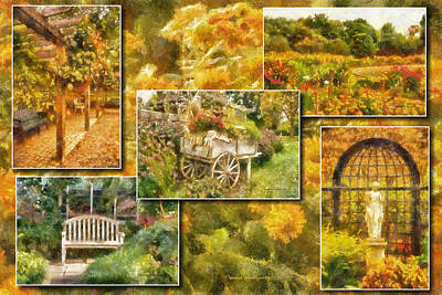Tom Woolworth Digital Art - A Garden Collage Photo Art by Thomas Woolworth