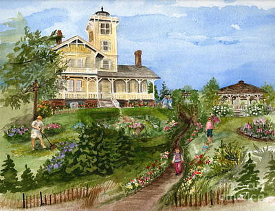 Painting - A Garden For All Ages by Nancy Patterson