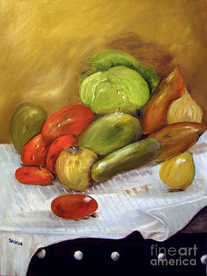 Avacado Painting - A Garden Variety by Sharon Burger