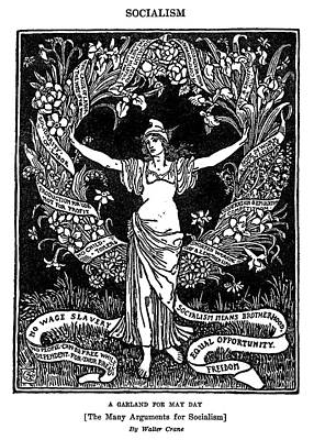 Phrygian Drawing - A Garland For May Day, 1913 by Granger