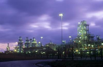 A Gas Processing Plant Print by Ashley Cooper