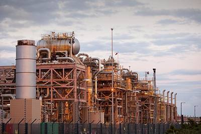 A Gas Processing Plant At Rampside Art Print by Ashley Cooper