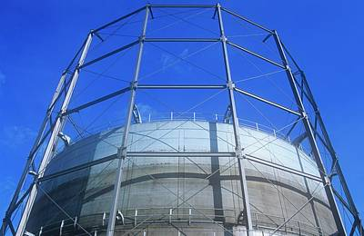 Leeds Photograph - A Gasometer In Leeds by Ashley Cooper