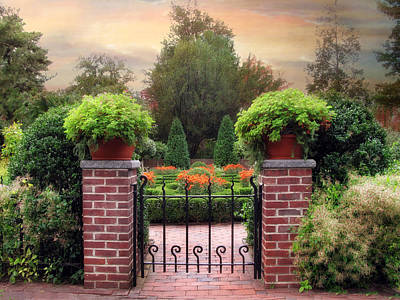 Planter Photograph - A Gated Garden by Jessica Jenney
