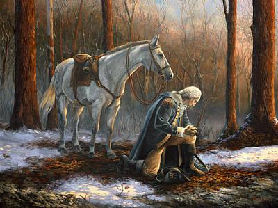 Washington Wall Art - Painting - A General Before His King by Tim Davis