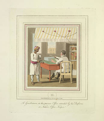 A Gentleman And An Office Keeper Art Print by British Library