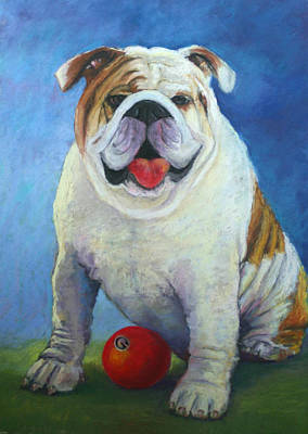 Painting - A Georgia Bulldog by Carol Jo Smidt