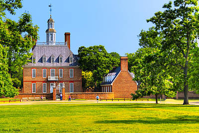 Williamsburg Photograph - A Georgian Palace In Old Williamsburg by Mark E Tisdale