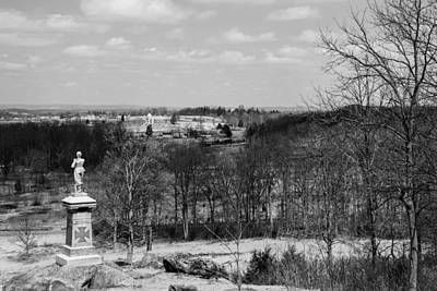 Photograph - A Gettysburg Perspective In Black And White by Kathi Isserman