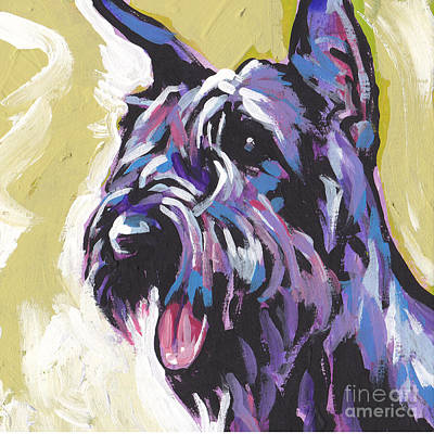 Schnauzer Art Painting - A Giant by Lea S