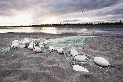 A Gill Net Used For Sockeye Salmon Art Print by Scott Dickerson
