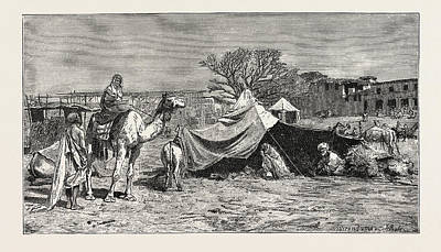 A Gipsy Tent. Egypt Art Print by Litz Collection