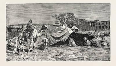A Gipsy Tent. Egypt Art Print