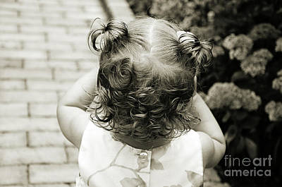 Andee Design Bw Photograph - A Girl And Her Curls by Andee Design