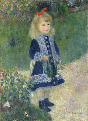 Innocence Painting - A Girl With A Watering Can by Pierre Auguste Renoir