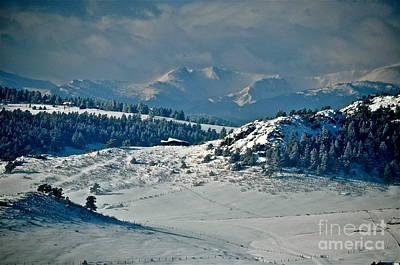 A Glacier View  Art Print