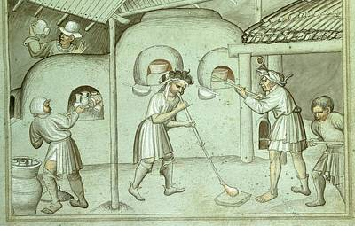 A Glass Blowing Factory Art Print by British Library