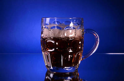 Frosty Mug Photograph - A Glass Of Beer by IB Photo