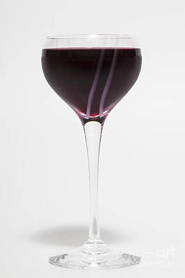 A Glass Of Red Wine Art Print by Diane Macdonald