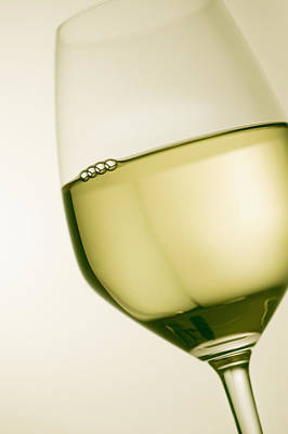 Images Of Wine Photograph - A Glass Of White Wine by Richard Desmarais