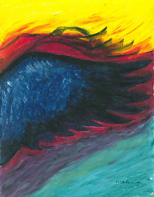 Painting - A Glimpse Of Fire On The Wing by Carrie MaKenna