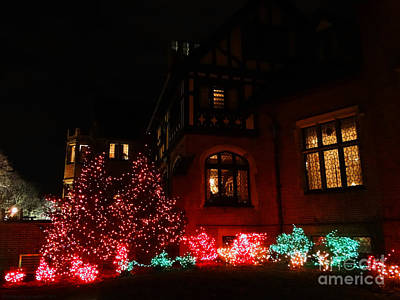 Photograph - A Glimpse Of Stan Hywet Hall At Christmas 2 by Gena Weiser