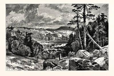 A Glimpse Of The Missisquoi. Usa. Missisquoi River Art Print