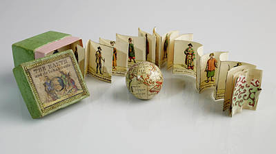 Cartography Photograph - A Globe by British Library