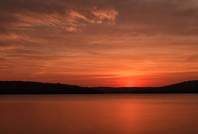 A Glorious Dawn Over The Quabbin As Seen From The End Of Old Enf Art Print