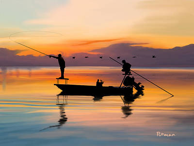 Redfish Digital Art - A Glorious Day by Kevin Putman