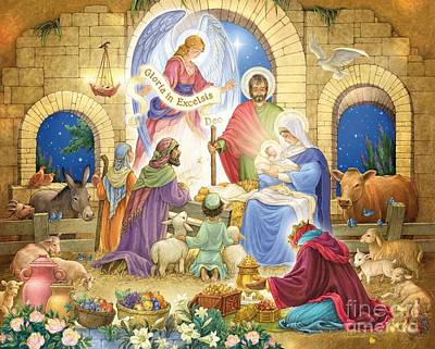 Digital Art - A Glorious Nativity by Randy Wollenmann