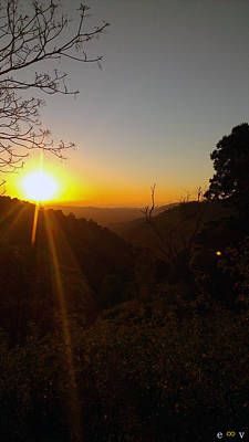 A Glorious Sunrise Over Nebo Art Print by Edwin Vincent