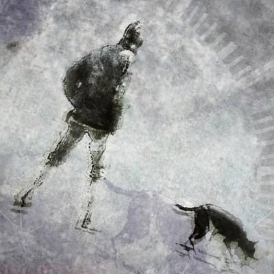 Dog Walking Digital Art - A Glowing Moment In Their Day by Suzy Norris