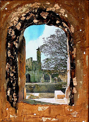Israeli Mixed Media - A Gold Gate by Reli Wasser