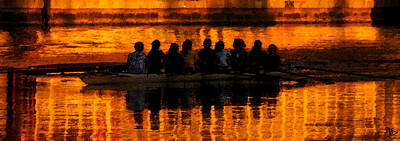 Rowing Crew Digital Art - A Golden Morning by David Lee Thompson