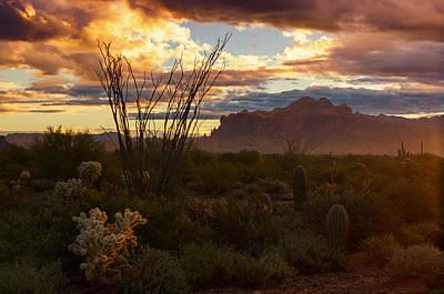 Photograph - A Golden Superstition Sunrise  by Saija  Lehtonen