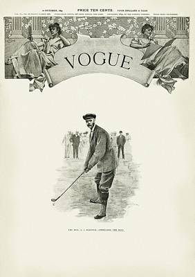 A Golfer In A Norfolk Jacket Art Print by Artist Unknown