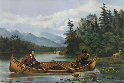 Hunters Painting - A Good Chance Circa 1863 by Aged Pixel