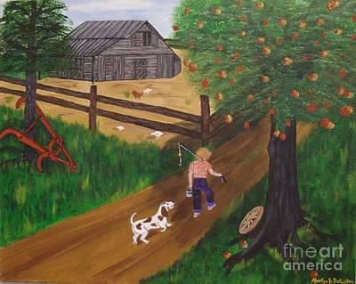 A Good Day For Fishing Art Print by Marilyn Detwiler