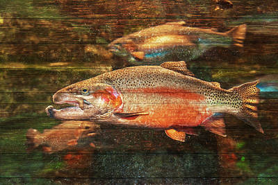 Salmon Painting - A Good Day To Be A Salmon by Ramona Murdock