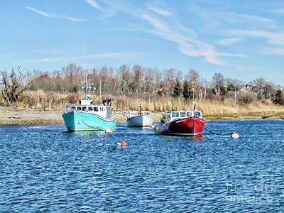 A Good Day To Fish Art Print by Roxanne Marshal