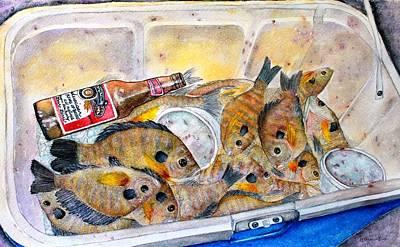 A Good Fish'n Day Art Print