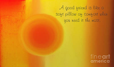 Digital Art - A Good Friend Poem And Abstract 1 by Andee Design