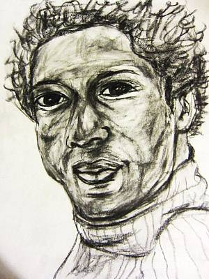 Portrate Drawing - A Good Looking Black Man by Esther Rowden