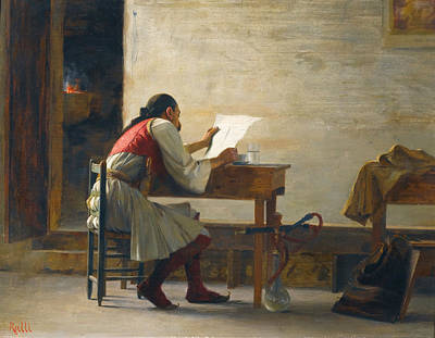 A Good Read Art Print by Theodoros Rallis