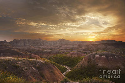 A Good Sunrise In The Badlands Art Print
