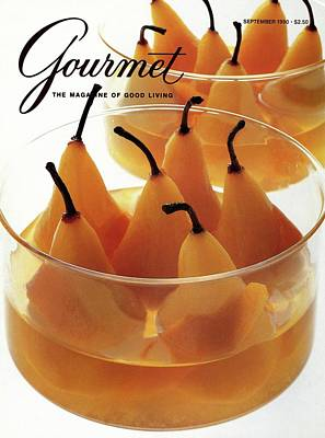 Sauce Photograph - A Gourmet Cover Of Baked Pears by Romulo Yanes