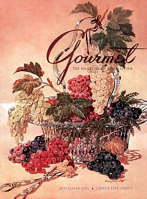 Healthy Food Photograph - A Gourmet Cover Of Grapes by Henry Stahlhut