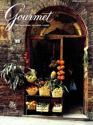 A Gourmet Cover Of La Frutteria Art Print by Ronny Jacques